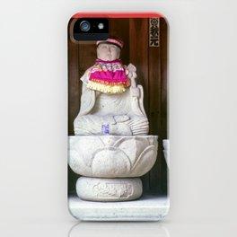 Jizo monk statues - Japan iPhone Case