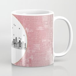 Beijing, China City Skyline Illustration Drawing Coffee Mug