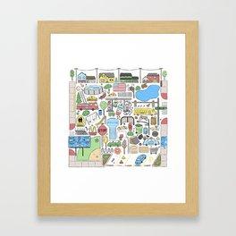 Suburbia Framed Art Print