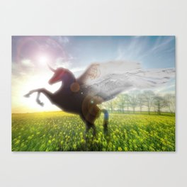 Unicorn Sunrise Canvas Print