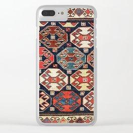 Shahsavan Moghan Southeast Caucasus Khorjin Print Clear iPhone Case