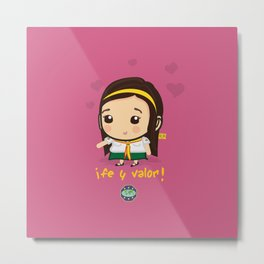 Cute Girl Master Guide Metal Print