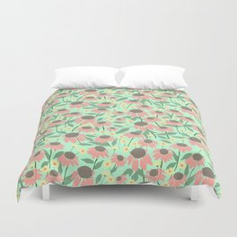 Echinacea and Coreopsis Duvet Cover