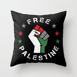 Free Palestine Fist Gaza - Arabic Gift Throw Pillow