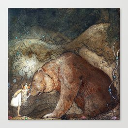 Among gnomes and trolls Canvas Print