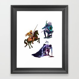 Lady Knights Framed Art Print
