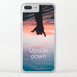 Upside down ll Clear iPhone Case
