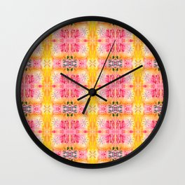 Indie art lighter tones Wall Clock