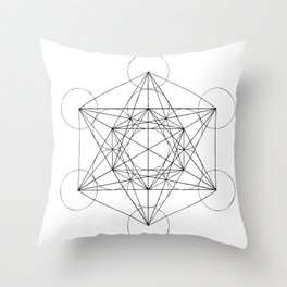 Sacred Geometry Print 3 Throw Pillow