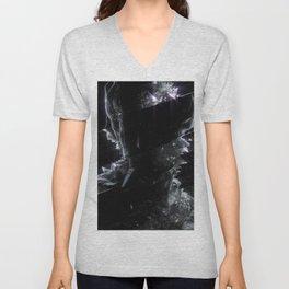 Black Crystal Unisex V-Neck