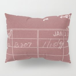 Library Card 797 Negative Red Pillow Sham
