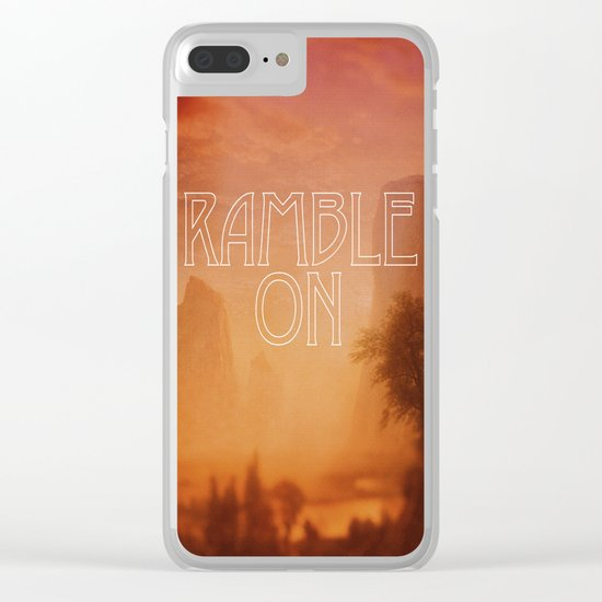 Ramble On Clear iPhone Case