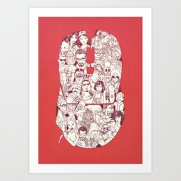 Adulthood - Mashup Art Print