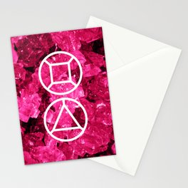 Garnet Candy Gem Stationery Cards