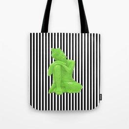 My  inner Green Buddha | Namaste Pop Art Buddha Tote Bag