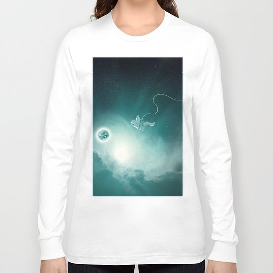 Astronaut Cast Away in Space Long Sleeve T-shirt