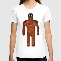 super hero T-shirts featuring Rust Man - Super Hero by Paul Stickland for StrangeStore