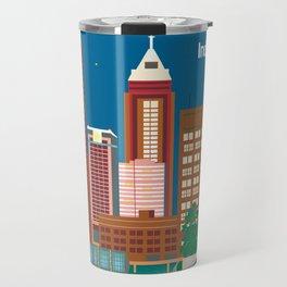 Indianapolis, Indiana - Skyline Illustration by Loose Petals Travel Mug