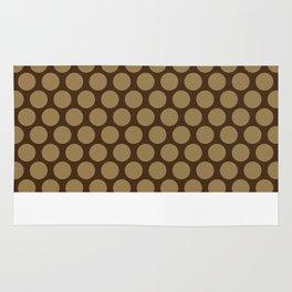 Dots Pattern 7 - Walnut, Tortilla, Brown Rug