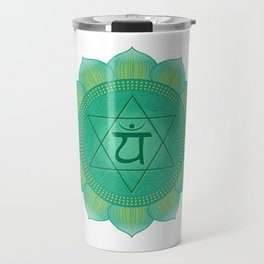 Heart - Anahata  Chakra Symbol Travel Mug