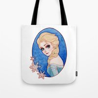frozen elsa Tote Bags featuring Elsa - Frozen by Naineuh