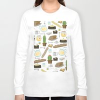 bread Long Sleeve T-shirts featuring Bread by Ceren Aksu Dikenci