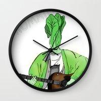 kurt rahn Wall Clocks featuring Kurt Romaine by Pattavina