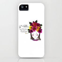 I'm a Girl iPhone Case