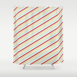 All Striped Shower Curtain