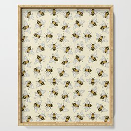 Busy Bees Pattern Serving Tray