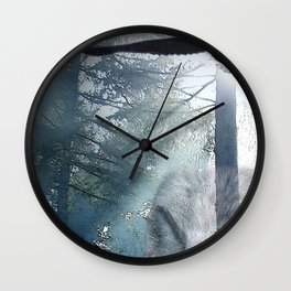 The Gathering - Wolf and Eagle Wall Clock