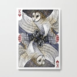 Owl Deck: King of Hearts Metal Print