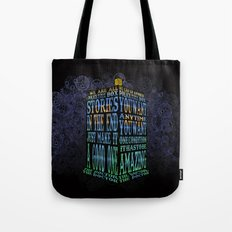 Tardis Doctor who Typography iPhone, ipod, ipad, pillow case and tshirt Tote Bag