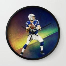 Colts quarterback Andrew Luck Wall Clock