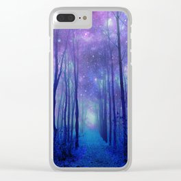 Fantasy Path Purple Blue Clear iPhone Case