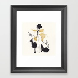-K- Framed Art Print