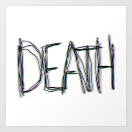 Trippy Death Art Print