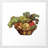 Just Vegetables Art Print