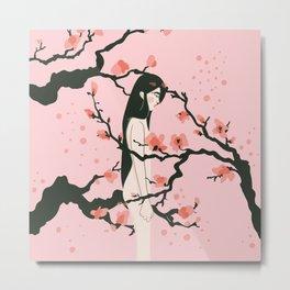 Sakura Dreams Metal Print