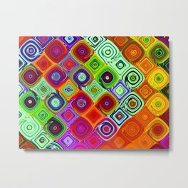 Mosaic Digital Abstract Beautiful Nature Art Metal Print