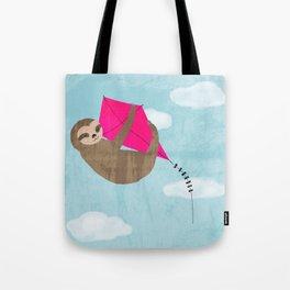 sloth flying kite Tote Bag