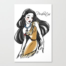 Pocahontas - Fairytale's Princess Collection by LeleDraw Canvas Print