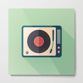 Vinyl Player Metal Print