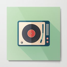 Vinyl Player Metal Print