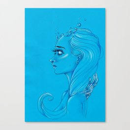 Let those cold thoughts melt away Canvas Print