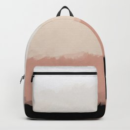 Abstract Rose Color Flora Blush Backpack
