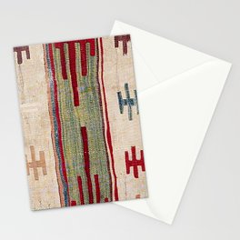 Arcade Star Kilim // 17th Century Colorful Muted Lime Green Southwest Cowboy Ornate Accent Pattern Stationery Cards