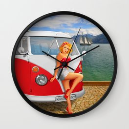 Holiday on Lake Garda in 1959 Wall Clock