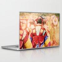 "korean Laptop & iPad Skins featuring culture Photography ""KOREAN DANCER"" by FarbCafé"