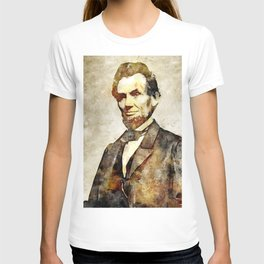 Abraham Lincoln Digital Art Portrait T-shirt